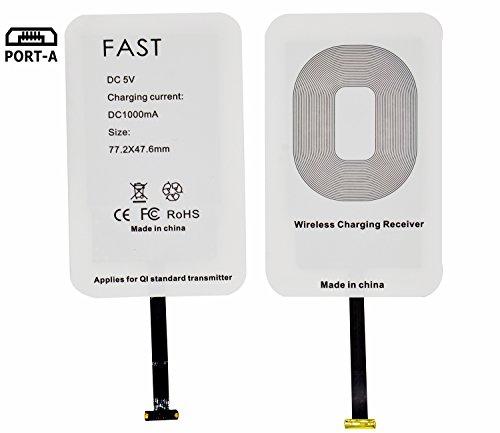 Android Qi Wireless Charging Receiver- Módulo de carga rápida de WOODHEART para la galaxia S4 / S5 / S6 / J7 de Samsung, nota 2/3/4/5/6 / 7and Otro Micro-USB teléfono elegante androide width=