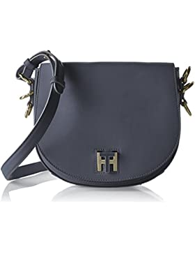 Tommy Hilfiger Damen Th Twist Leather Medium Crossover Umhängetasche, 6x18x21 cm