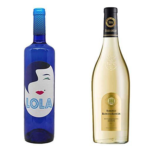 Lola Semiblanco Dulce Y Blanco De Los Blancos - Vino Blanco Semidulce Y Vino Blanco - 2 Botellas De 750 Ml