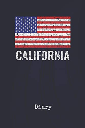 Diary: California America | Blank Writing Journal | Patriotic Stars & Stripes Red White & Blue Cover | Daily Diaries for Journalists & Writers | Note Taking | Write about your Life & Interests (Party Supplies San Francisco)