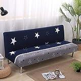 LYX1,Sofabezug Sofaüberwurf Einfach bedruckter Stretch All-Inclusive-Schlafsofa ohne Armlehnenüberzug (Farbe : 17)