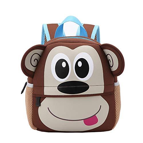 KTUKDECN3D Cartoon Tiere Hund Kinder Schultaschen Nette Kleinkind Rucksäcke Kindergarten Kinder Schultasche für Mädchen Jungen TascheZiege (Spielzeug Ziege Hund)