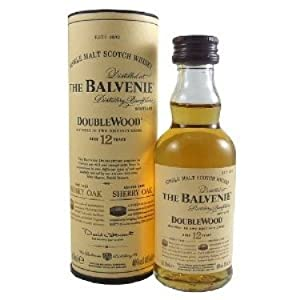 Balvenie Double Wood 12 year old Single Malt Whisky 5cl Miniature from Balvenie
