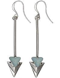 Pilgrim Jewelry Soft shafts - Pendientes de latón con cierre de gancho