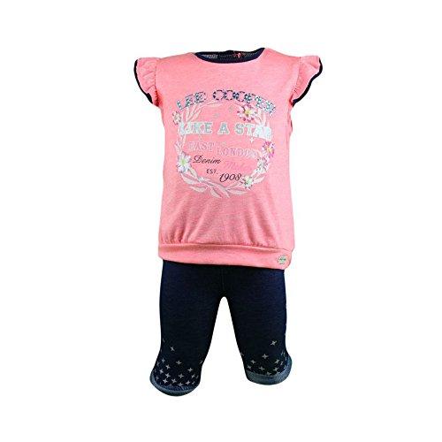 Lee Cooper - Ensemble deux pièces tee shirt et legging - bébé fille - corail