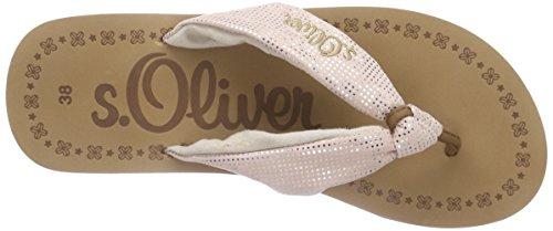 s.Oliver - 27103, Sandali infradito Donna Rosa (Pink (PINK 510))
