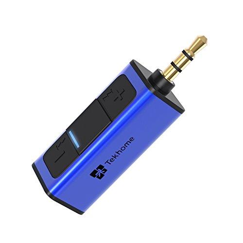 TekHome Aux Bluetooth, Bluetooth Adapter Stereoanlage, Kfz Bluetooth Audio Adapter Auto, Bluetooth Receiver Audio, Freisprecheinrichtung Bluetooth Auto, 3.5mm HiFi Bluetooth Empfänger, Blau.(BR120)
