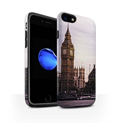 STUFF4 Matte Harten Stoßfest Hülle / Case für Apple iPhone 7 / City of London Muster / Seiten London Kollektion Big Ben
