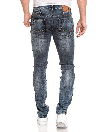 BLZ jeans - Jean fashion homme bleu délavage stylé Bleu