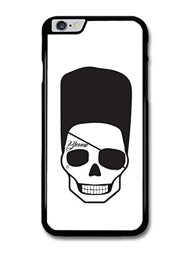 Cool Hipster Skull with Flat Top Eye Patch and Tattoo Minimalist hülle für iPhone 6 Plus 6S Plus (Flat Eye Patch)