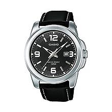 Casio Men's Analogue Quartz Watch with Leather Strap MTP-1314PL-8A