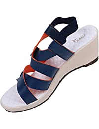 GXN Strap Party Wear Wedge Sandal For Women - B07459CH7P