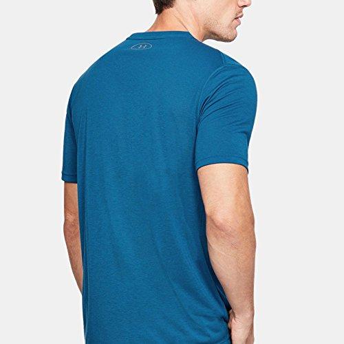 Under Armour Herren Threadborne Fitted Shortsleeve Shirt moroccan blue-graphite (1289588-487)