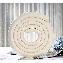 Design61 Universal Eckenschutz Schutzecken Sicherheits Schutz Ecken Kantenschutz Sicherungspuffer Schutzkappen Schaumstoff Tischkantenschutz Stoßschutz selbstklebend 2m L-Form in Weiß