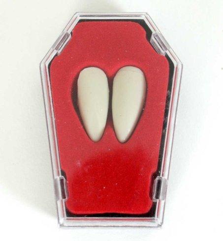 Vampirzähne Vampir Eck Zähne im Sarg Halloween Thermoplast - individuelle Passform-