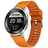 Huawei Fit Smart Fitness Watch Moonlight Silver With Blue Sport Band Large With Continuous Heart Rate Monitor US Warranty Moonlight Silver With Orange Sport Band