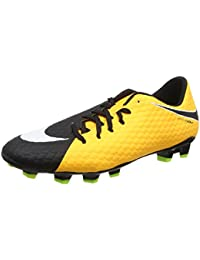 7697b9f1f Nike Men's Hypervenom Phelon III FG Soccer Cleat Laser  Orange/White/Black/Volt