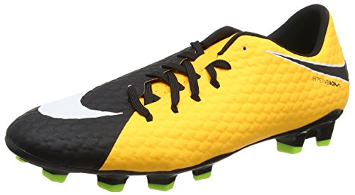 Fußball Nike Fußballschuhe (Nike Herren Hypervenom Phelon III FG Fußballschuhe, Orange (Laser Orange/Black-Black-Volt-White), 43 EU)