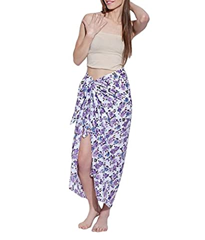 Retro Print Cotton Voile Sarong Wrap Swimsuit Cover Up, Swimwear Cover Ups for Women, Designer Quality Swimsuit