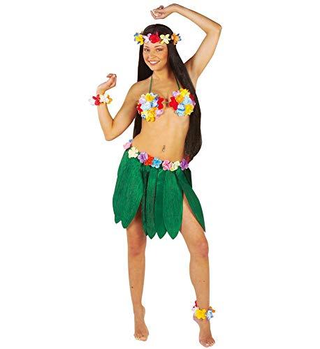 Kostüm Exotische - shoperama Bananenblätter Rock mit Hawaii Blumen Damen-Kostüm Beach Party Strand Südsee exotisch Tropen