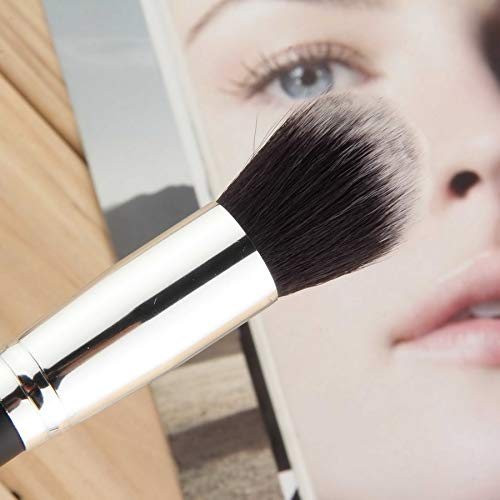 High-grade Wool Fiber Portable Professional Soft Synthetic Large Cosmetic Blending Foundation Silver Basic Makeup Brush