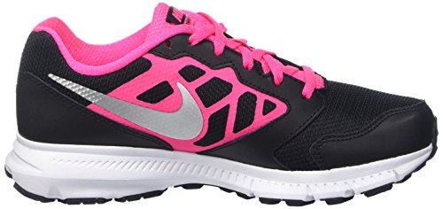 Nike Downshifter 6 (Gs/Ps), Chaussures de Course Fille Noir (Black/Metallic Silver/Hyper Pink/White)
