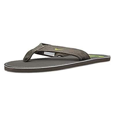 Nike Men's Stalley Thong Charcoal Grey and Brown Flipflops and House Slippers - 6 UK