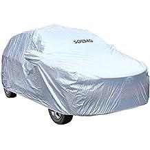 Amazon Brand - Solimo Tata Tiago Water Resistant Car Cover (Silver)