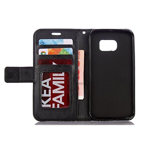 Meet de Or Rose pour Apple iphone 5S /iphone SE Case, Folio pour Apple iphone 5S /iphone SE PU Housse, (fleurs de Datura) gaufré Wallet / flip étui / Pouch / Case / Holster / Wallet / Case en cuir Wal noir