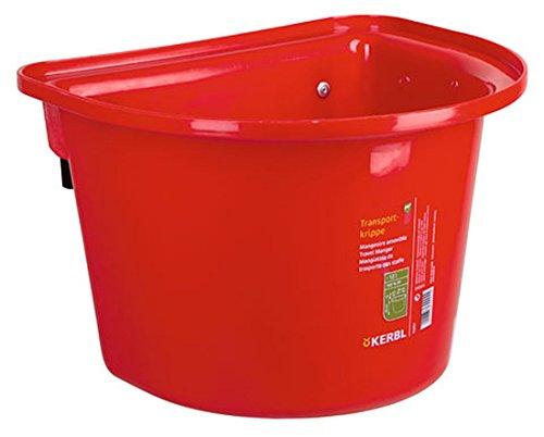 2 Stück Transport-Krippe rot 12 Liter Pferdetrog Pferdetränke zum Einhängen