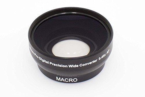 vhbw Weitwinkel Vorsatzlinse Objektivgewinde 46mm, Faktor 0,45x für Kamera Olympus 25 mm F1.8 (ES-M2518), Olympus 60 mm 2.8 Macro ED (EM-M6028).