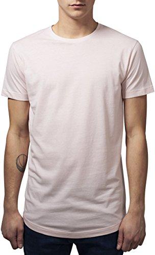 Urban Classics Herren T-Shirt Shaped Long Tee Rosa (Pink 185)