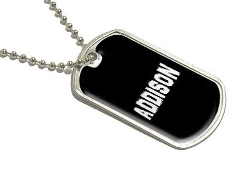Addison–Namen Militärische Erkennungsmarke Gepäck Schlüsselanhänger (Addison-namen)