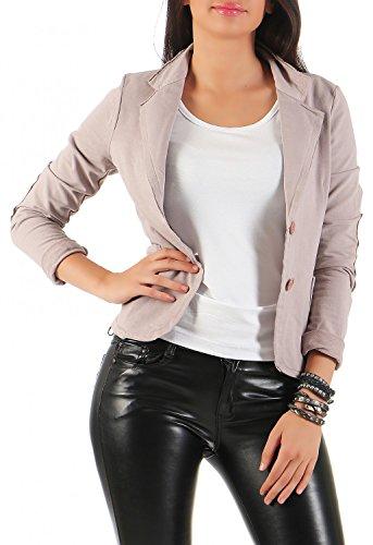 Damen Blazer Vintage Style, mit Taschen ( 545 ), Farbe:Rosa, Blazer 1:36 / S