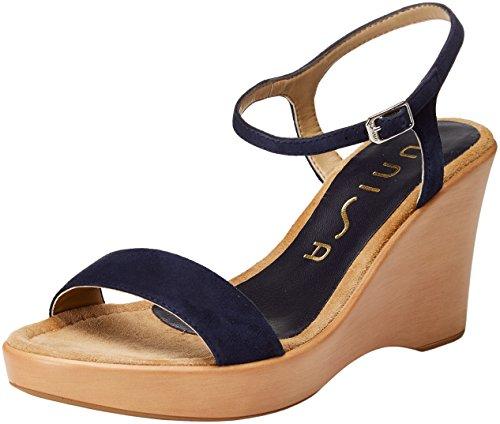 Sandali Primavera casual blu con punta aperta con chiusura velcro per donna xcb6xVht