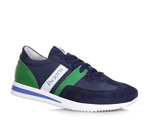 4us-cesare-paciotti-chaussure-a-lacets-bleue-en-suede-et-tissu-applications-vertes-en-cuir-logo-late