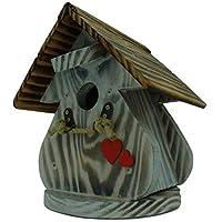 Caseta para pájaros, casa para pájaros producto Francais, 27 cm alto, color blanco