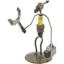 Handyman reciclado Bujía Metal Escultura