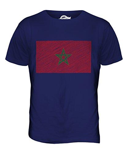 CandyMix Marokko Kritzelte Flagge Herren T Shirt Navy Blau