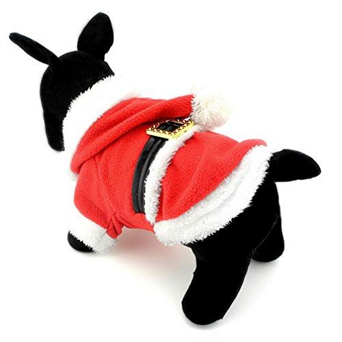 ranphy Kleine Haustiere Hund Overall Katze Kleidung Fleece Santa Claus Kostüm Xmas Kleidung Wohltätigkeitszwecke rot (Weihnachtsfeier Kostüm Ideen Für Erwachsene)