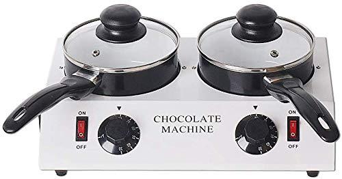 PLEASUR Hause elektrische schokoladenbrunnen Fondue Schokolade schmelztopf weiß schmelzmaschine DIY personalisierte heizung Thermostat Schokolade (2 Topf)