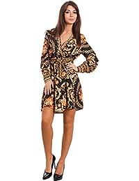 a0abe0c7b49d Toocool - Vestito Donna Corto Mini Abito Fantasia barocca Scollato Elegante  Sexy GI-20693