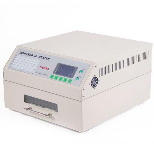 Mophorn Reflow Ofen T962A 1500W Reflow Oven Infrared IC Heater 300 x 320 mm Reflow Soldering Machine für SMD BGA PCBA SMT (T962A)