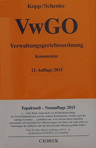 Verwaltungsgerichtsordnung (Gelbe Erläuterungsbücher)