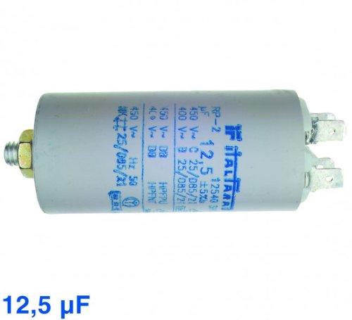 Kondensator 12,5µF, 450V Steck, passend zu Geräten von:Bauknecht Philips Quel... -