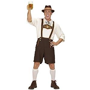 WIDMANN 05583 - Adult Costume Bayer, pantalones de cuero, camisa, calcetines y el sombrero, talla L