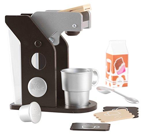 KidKraft 63379 Espresso Spielzeug-Kaffeeset aus Holz Zubehör für Kinder-Spielküchen