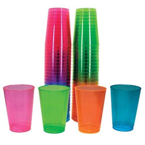 Northwest Enterprises Hartplastik Unzen Party Cups und hoch, verschiedene Neon, 50Stück Outdoor, Home, Garten, SUPPLY, Wartung