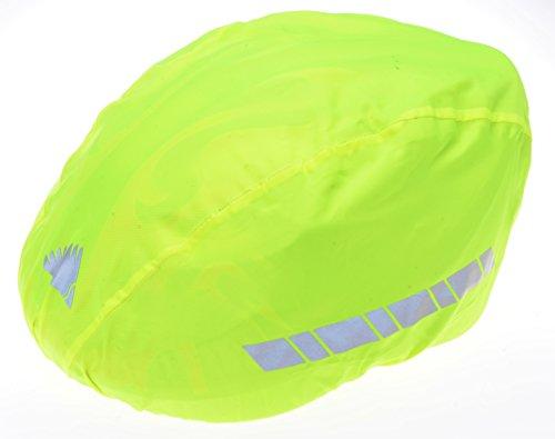 Filmer-46850-Regenschutz-Helm-berzug-fr-Fahrradhelm-Reithelm-etc-neongelb-reflektierend