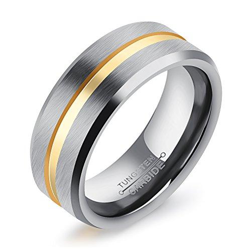Fate Love Jewellery Herren - FASHIONRING Wolframcarbid  Wolframcarbid     Oxyde de Zirconium